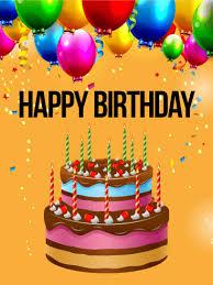 birthday balloon cake card birthday greeting cards by