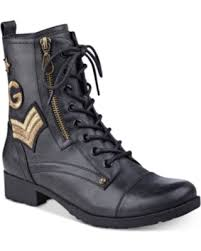 guess boots womens bargains 30 g by guess bronson lace up combat boots s