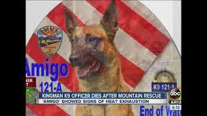 Wildfire Kingman Az by Kingman Police K9 Amigo Dies In The Line Of Duty While Rescuing