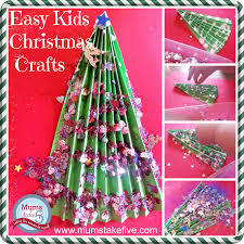 simple christmas tree crafts for young kids tree crafts