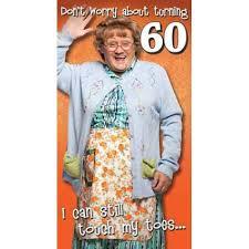 mrs brown u0027s boys happy 60th birthday card danilo