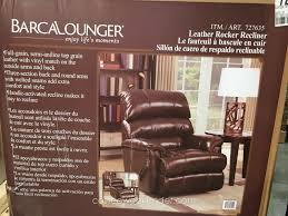 barcalounger leather rocker recliner chair costco weekender