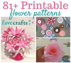 tissue paper flowers printable instructions 81 printable flower patterns favecrafts com