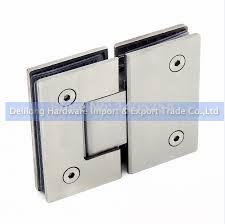 Hinged Glass Shower Door Stainless Steel Bathroom Toilet Glass Clip Frameless Glass Shower