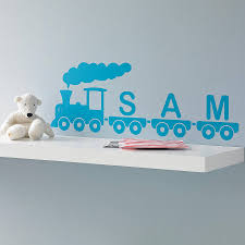 personalised train vinyl wall sticker by oakdene designs personalised train vinyl wall sticker