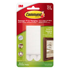 shop command large picture hanging strips at lowes com