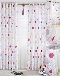 Polka Dot Curtains Astonishing Polka Printing White Bedroom Style Polycotton Blend