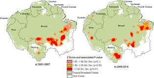 Std Map Pervasive Rise Of Small Scale Deforestation In Amazonia