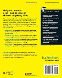 How To Write A Resume For A First Time Job by Resumes For Dummies Laura Decarlo 9781118982600 Amazon Com Books