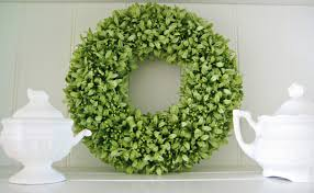 happy at home diy boxwood wreath