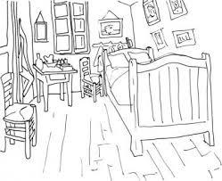 chambre de gogh coloriage chambre de gogh trucs et deco