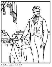 free printable coloring pages of us presidents andrew jackson our 7th president of the united states free