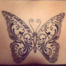 black and white butterfly tattoomagz