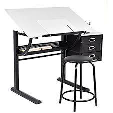 Drafting Table Vinyl Alvin Op36 3 Opal Table Black Base White Top 24