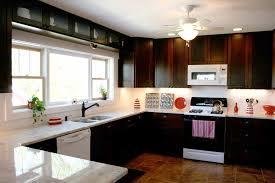 Modern Kitchen With White Appliances Kitchen Black Cabinets With White Appliances And Fan With