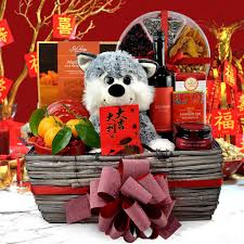 new year gift baskets new year gift baskets year of the dog gift basket