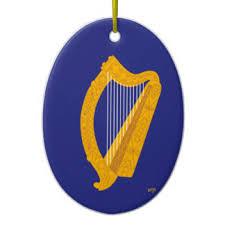 harp ornaments keepsake ornaments zazzle