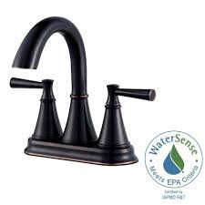 pfister cantara 4 in centerset 2 handle bathroom faucet in tuscan