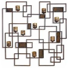 Candle Sconces Contemporary Large Contemporary Geometric Wall Candle Sconce Contemporary