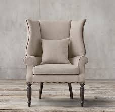 Modern High Back Wing Chair Hampshire Upholstered Wingback Chair