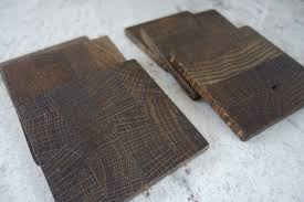 Unique Coasters Wood Coasters End Grain Set Of 6