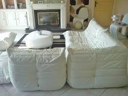 canapé togo ligne roset occasion ensemble togo cuir blanc ligne roset 6 places ameublement maison