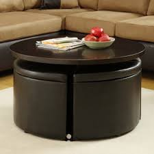 Dvd Storage Ottoman by Homelegance Rowley Round Gas Lift Dining Table W 4 Storage