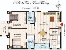 2 bhk flat design floor plan bharat pride park