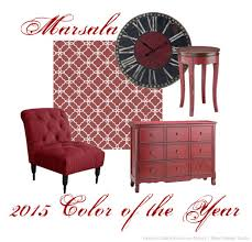 decorating with the 2015 color of the year and stencils