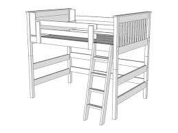 Bunk Bed Drawing L246 Loft Bed The Bunk Loft Factory