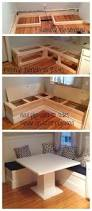 awesome kitchen breakfast nook with storage benches ideas