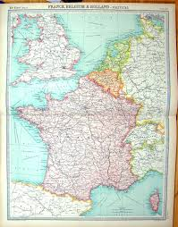 Marseille France Map by 27 Print Times Map 1922 France Corsica Channel Islands Bordeaux