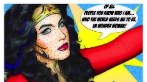 Wonder Woman Makeup For Halloween by Nyx Face Awards Round 2 1970 S Pop Art Wonder Woman Video