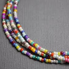 color beads necklace images Multi color seed bead necklace luster opaque 11 0 beads single jpg