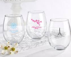 wedding favor glasses personalized wedding 15 oz stemless wine glass favors my