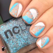 blue and white nail tape the crafty ninja