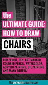 how to draw a chair the curiously creative