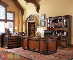 wood credenza file cabinet wood 4 piece executive office furniture set desk credenza hutch file