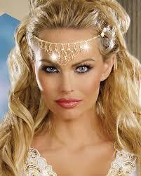 chain headpiece and gold chain headpiece