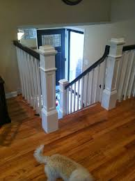 Banister Newel Wood Stairs And Rails And Iron Balusters New Box Newels And