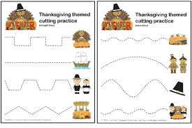 thanksgiving scissor cutting practice sheets makeovers and