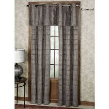 camden quilted faux suede grommet window treatment