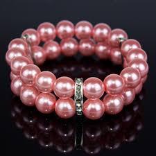 pink glass bead bracelet images Pink glass bead bracelet with crystals bella k clothing jpg