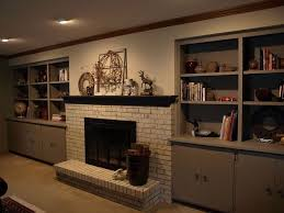 Fireplace Mantels With Bookcases Painting A Brick Fireplace With Chalk Paint Hometalk
