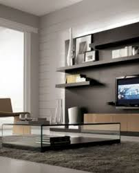 Built In Wall Units For Living Rooms by Long Wall Units With White Media Console With Black Carpet And