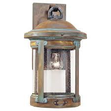 Craftsman Style Outdoor Lighting by 8441 28 One Light Outdoor Wall Lantern Aged Brass