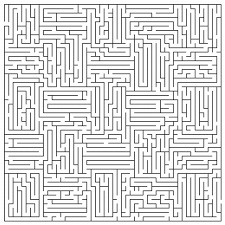 6 best images of difficult maze printable coloring pages