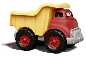 green toys dump truck at growing tree toys