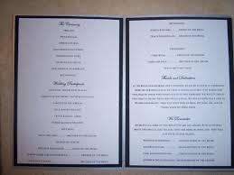 how to do a wedding ceremony program ceremony program tolg jcmanagement co