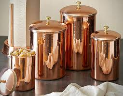 copper canisters kitchen exclusive cookie jars for any family kitchen copper
